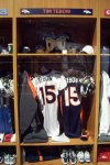 Tim Tebow's locker