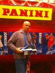 East Coast Connection's Mike Calvanico sold 580 boxes of Panini America's NFL stickers and won a pair of signed Kobes for his efforts.