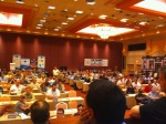 The view from the podium during Panini America's address at the 2011 Industry Summit.