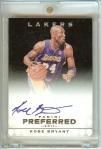 Kobe Bryant 2011-12 Panini Preferred Panini Signatures Black Auto #1/1 SOLD $1,991
