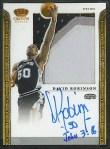 David Robinson 2011-12 Panini Preferred Crown Royale Silhouette Inscription Auto #4/5 SOLD $430