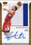 Blake Griffin 2011-12 Panini Preferred Crown Royale Silhouette Prime Swatch Auto #3/3 SOLD $720
