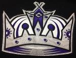 Dustin Brown game-worn logo.