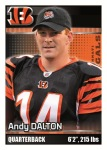 2012 NFL Sticker Dalton
