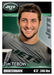 2012 NFL Sticker Tebow