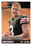2012 NFL Sticker Weeden
