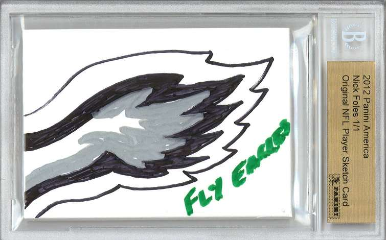 2012 Panini America NFL Sketch Card Foles Front