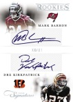 2012 Prime Signatures Football Barron Kirkpatrick
