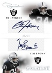 2012 Prime Signatures Football Jackson Brown