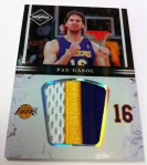 Panini America 11-12 Limited Basketball Mem 33