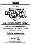 Panini America Triple Play Stickers 1b