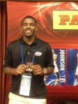 Kyrie Irving with his 2012-13 NBA Hoops RC.