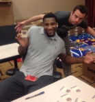 Andre Drummond with Panini America's Keith Hower.