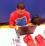 Austin Rivers at the Panini America Twitter controls.