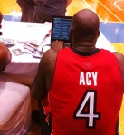 Quincy Acy takes over the Panini America Twitter account.