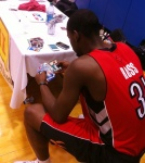 Terrence Ross looking for his Rookie Card.