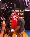 Arnett Moultrie during his Panini America interview.