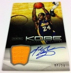 Panini America Kobe Anthology Auto Mem 1