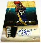 Panini America Kobe Anthology Auto Mem 11