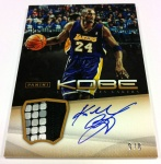 Panini America Kobe Anthology Auto Mem 15