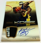 Panini America Kobe Anthology Auto Mem 16