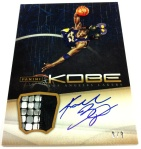 Panini America Kobe Anthology Auto Mem 18