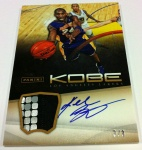 Panini America Kobe Anthology Auto Mem 19