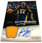 Panini America Kobe Anthology Auto Mem 2