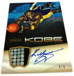 Panini America Kobe Anthology Auto Mem 20