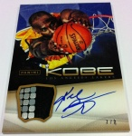 Panini America Kobe Anthology Auto Mem 22