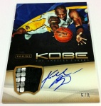 Panini America Kobe Anthology Auto Mem 24
