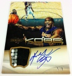 Panini America Kobe Anthology Auto Mem 26