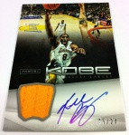 Panini America Kobe Anthology Auto Mem 3