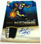 Panini America Kobe Anthology Auto Mem 30