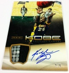 Panini America Kobe Anthology Auto Mem 31