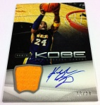 Panini America Kobe Anthology Auto Mem 6