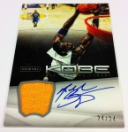 Panini America Kobe Anthology Auto Mem 7