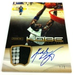 Panini America Kobe Anthology Auto Mem 8