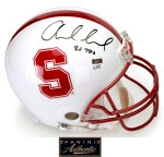 Panini Authentic Luck Stanford Inscribed Helmet