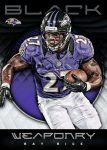 Panini America 2012 Black Football Weaponry 1