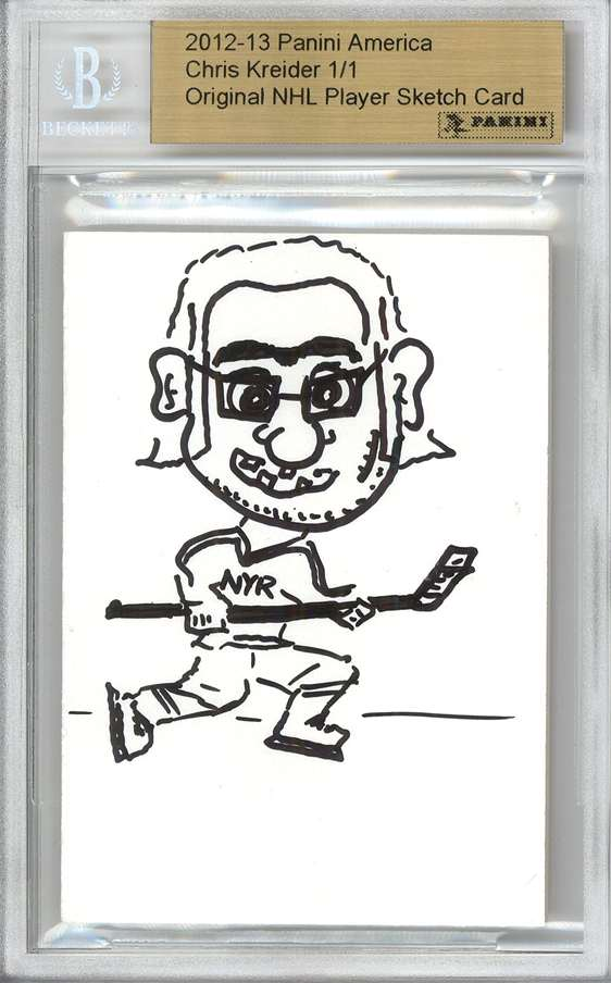 Panini America 2012 Fall Expo Chris Kreider Sketch 2a