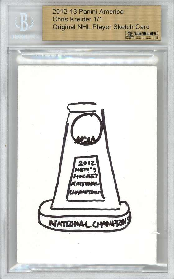 Panini America 2012 Fall Expo Chris Kreider Sketch 3a