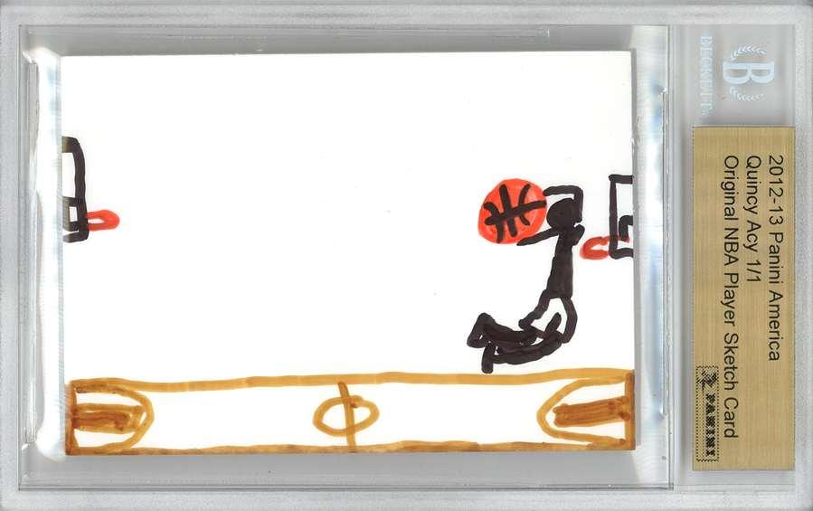 Panini America 2012 Fall Expo Quincy Acy Sketch 1a