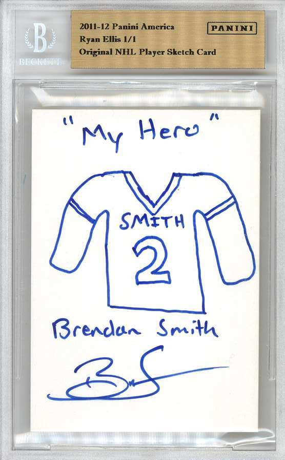 Panini America 2012 Fall Expo Ryan Ellis Sketch 2a