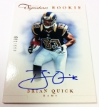 Panini America 2012 Prime Signatures Football QC 32