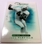Panini America 2012 Prime Signatures Football QC 9