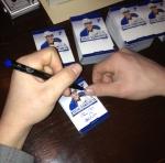 Panini America Blues Signing 3