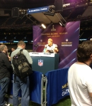 Panini America Super Bowl XLVII Media Day (15)