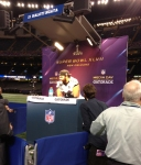 Panini America Super Bowl XLVII Media Day (17)