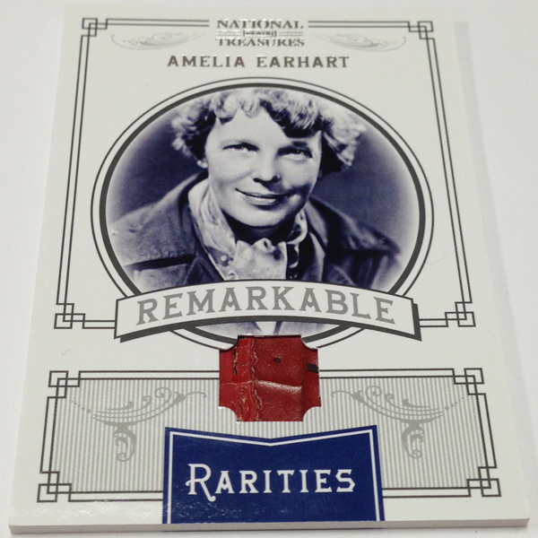 Rare air first amelia earhart memorabilia trading card drawing big simply stated last weeks celebrated release of 2012 national treasures baseball included some of the most historically significant trading cards ever colourmoves